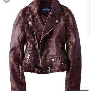 American eagle faux leather moto jacket, NWT